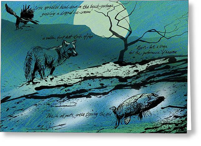 Neil Mcbride Greeting Cards - Ted Hughes Theatre Tribute Greeting Card by Neil McBride