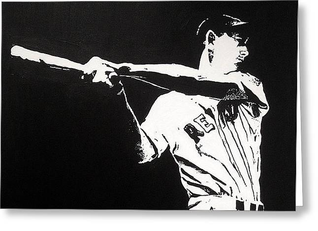 Red Sox Paintings Greeting Cards - Ted Greeting Card by Matthew Formeller