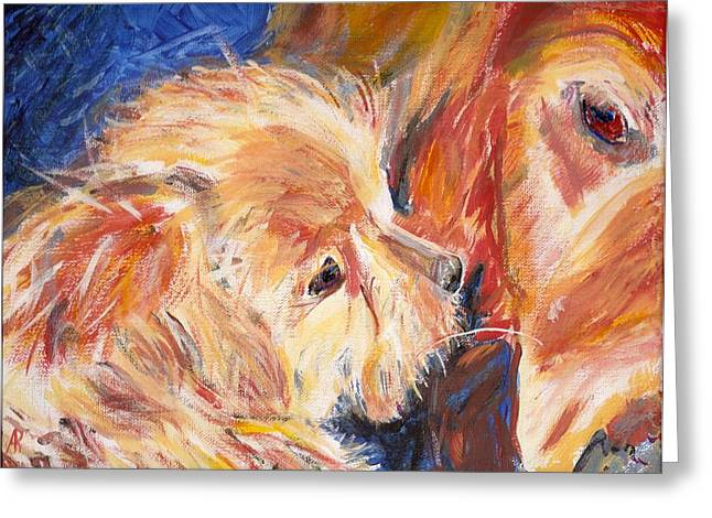 Arthur Rice Greeting Cards - Teddy and Friend Greeting Card by Arthur Rice