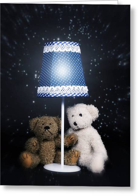 Black Teddy Greeting Cards - Teddy Bears Greeting Card by Joana Kruse