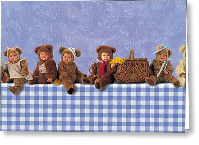 Down Photographs Greeting Cards - Teddy Bears Picnic Greeting Card by Anne Geddes