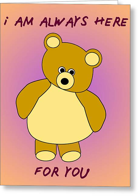 Teddybear Poster  Greeting Card by Anthony Caruso