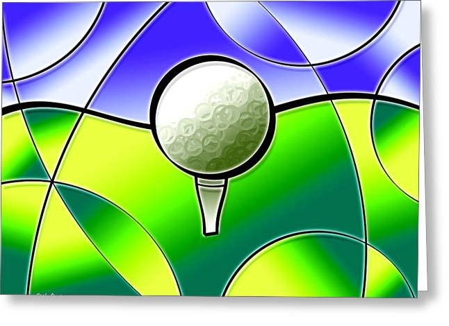 Bogey Greeting Cards - Tee It Up Greeting Card by Stephen Younts