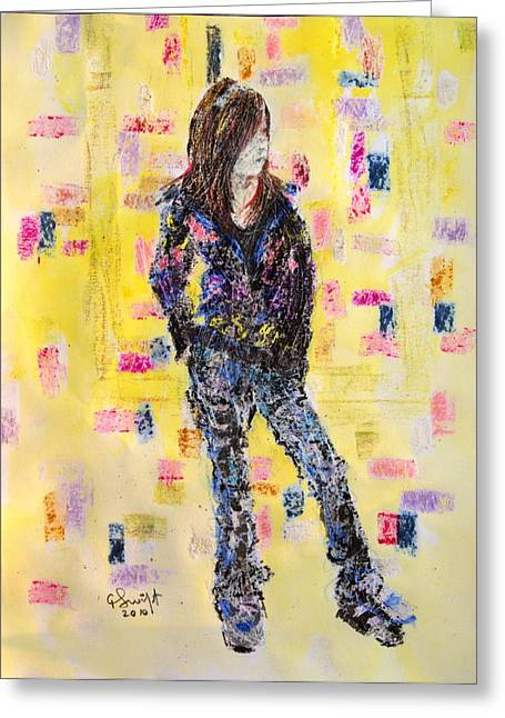 Clothed Figure Greeting Cards - Teen model Greeting Card by Gerald Swift