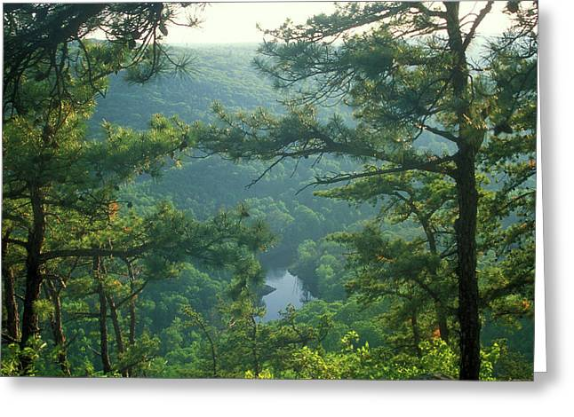 Westfield River Greeting Cards - Tekoa Mountain Greeting Card by John Burk