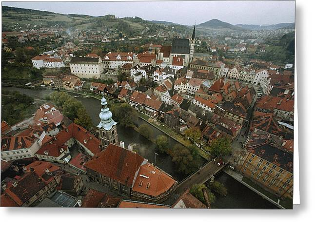 Slavic Greeting Cards - Telc Is A Town Protected Greeting Card by James L. Stanfield