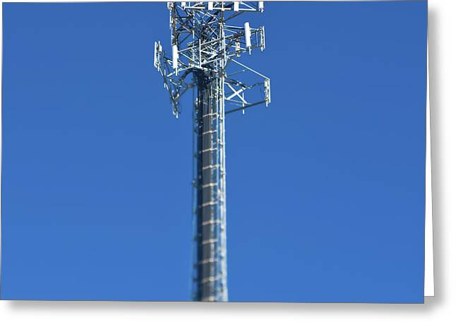 Cellphone Greeting Cards - Telecommunications Tower Greeting Card by Eddy Joaquim