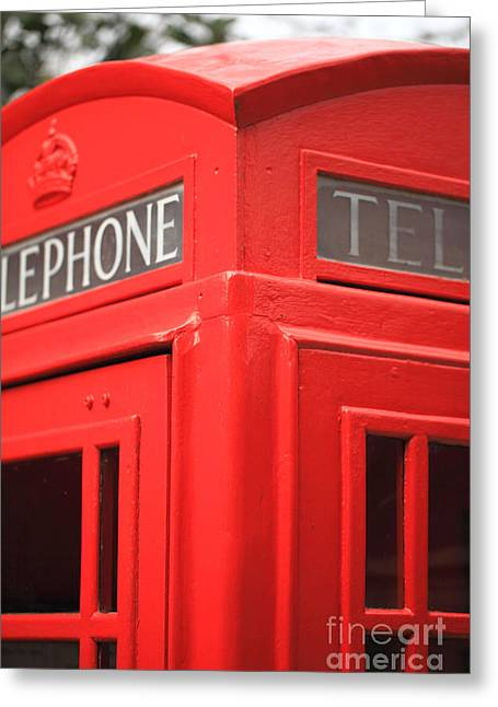 Call Box Greeting Cards - Telephone Box Greeting Card by Carl Whitfield