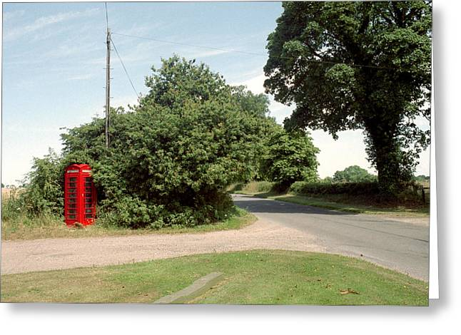 Technological Communication Greeting Cards - Telephone Box Greeting Card by Victor De Schwanberg