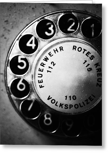 Ddr Greeting Cards - Telephone dial Greeting Card by Falko Follert