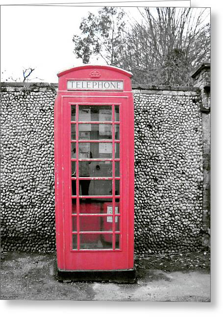 Out-of-date Greeting Cards - Telephone Greeting Card by Julia Raddatz