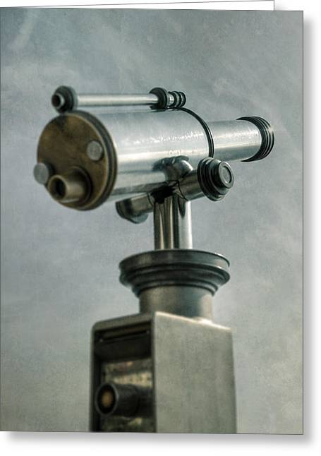 Observe Greeting Cards - Telescope Greeting Card by Joana Kruse