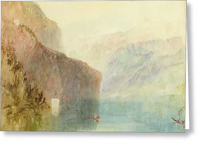 Tell's Chapel - Lake Lucerne Greeting Card by Joseph Mallord William Turner