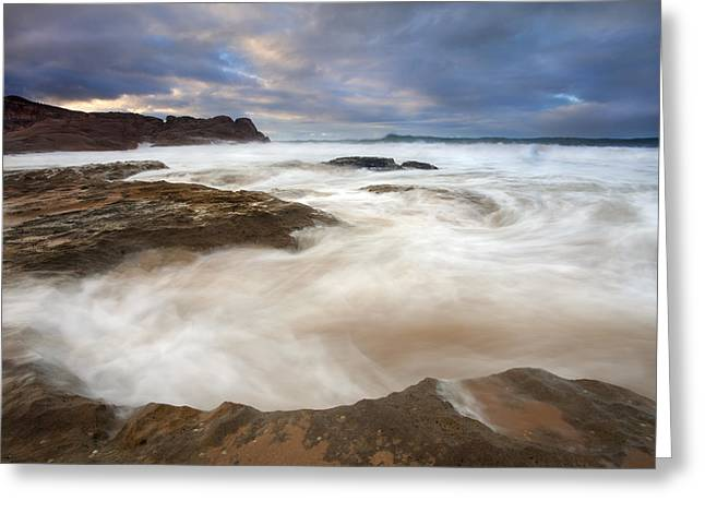 Bowls Greeting Cards - Tempestuous Sea Greeting Card by Mike  Dawson