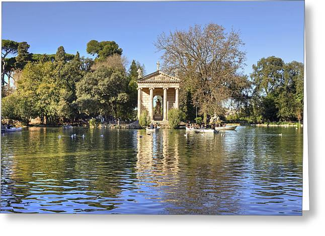 City Park Greeting Cards - Tempio Esculapio - Rome Greeting Card by Joana Kruse