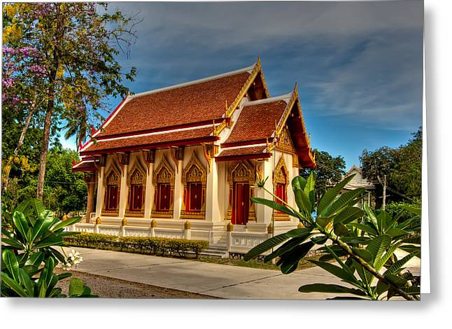 Hua Hin Greeting Cards - Temple Greeting Card by Adrian Evans