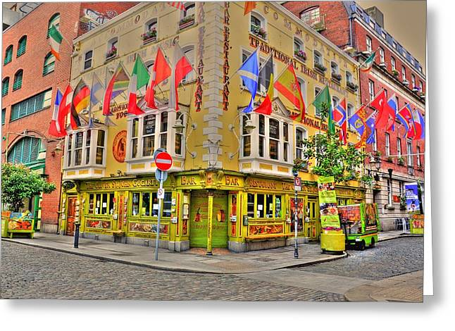Barry R Jones Jr Digital Art Greeting Cards - Temple Bar Greeting Card by Barry R Jones Jr