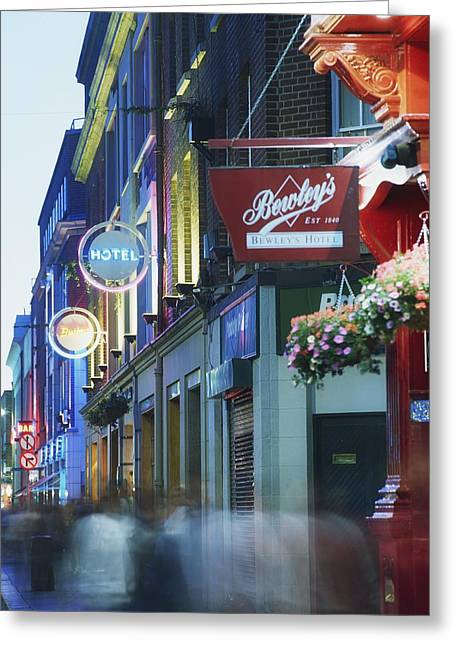 The Western Hotel Greeting Cards - Temple Bar, Dublin, Co Dublin, Ireland Greeting Card by The Irish Image Collection