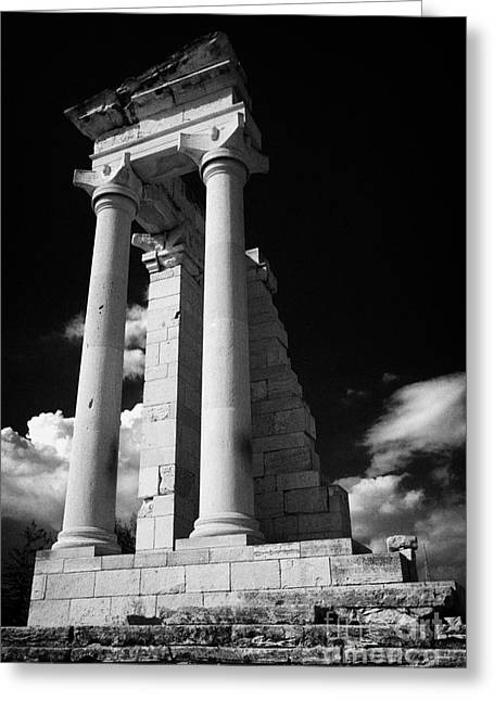 Kypros Greeting Cards - Temple Of Apollo Hylates In The Sanctuary Of Apollon Ylatis At Kourion Archeological Site Cyprus Greeting Card by Joe Fox