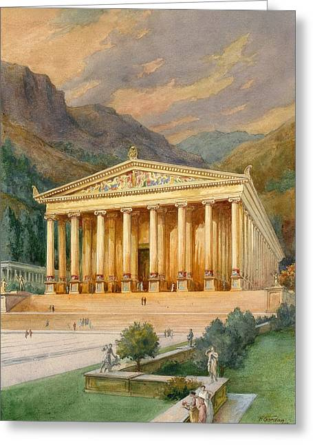Stepping Stones Greeting Cards - Temple of Diana Greeting Card by English School