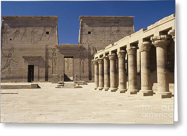 Isis Greeting Cards - Temple of Isis Greeting Card by Adam Crowley