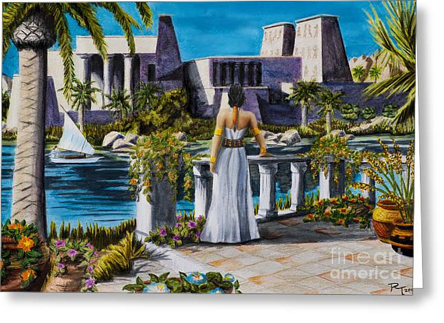 Matron Greeting Cards - Temple of Isus Greeting Card by Robert Thornton