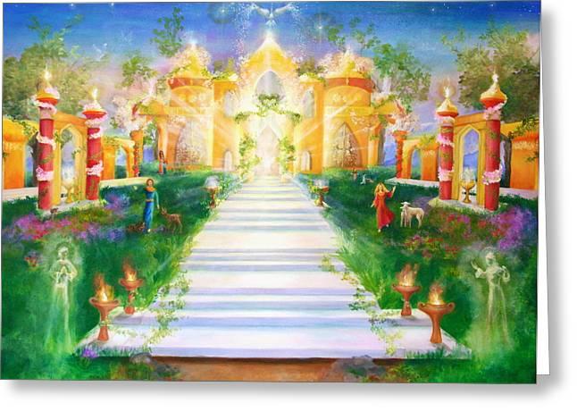 Innocence Greeting Cards - Temple of Light Greeting Card by Marija Schwarz