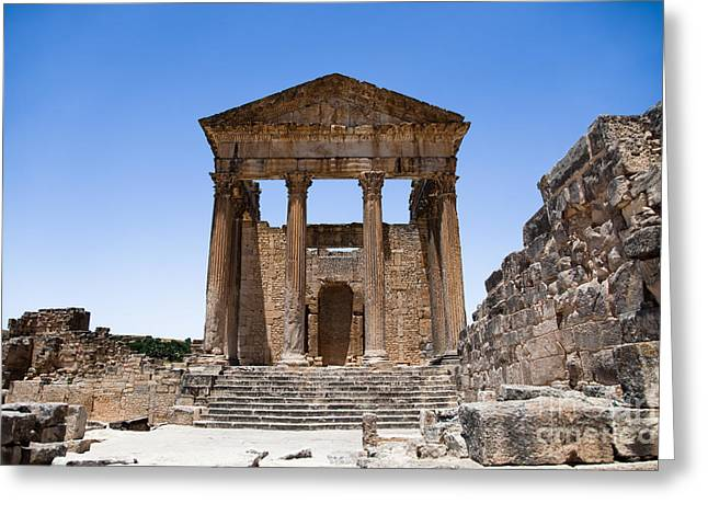 African Heritage Greeting Cards - Temple of the Capitol I Greeting Card by Irene Abdou
