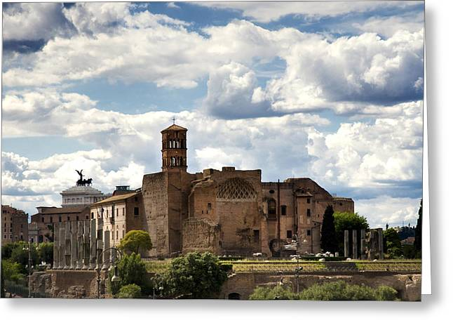 Temple Photographs Greeting Cards - Temple of Venus and Roma Greeting Card by Fabrizio Troiani