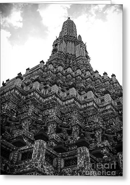Thanh Tran Greeting Cards - Temple Pillar Greeting Card by Thanh Tran