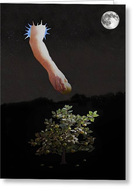 Ellenisworkshop Greeting Cards - Temptation Forbidden Fruit Greeting Card by Eric Kempson