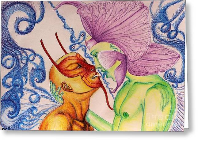 Aesthetics Pastels Greeting Cards - Temptation Greeting Card by Isaac Lopez