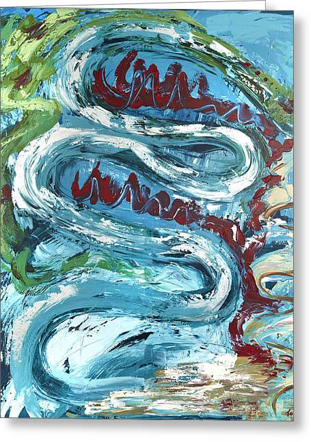 Temptation Greeting Card by Thomas Kleiner