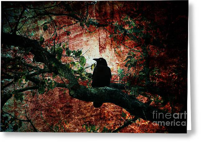 Corvus Greeting Cards - Tempting Fate Greeting Card by Andrew Paranavitana