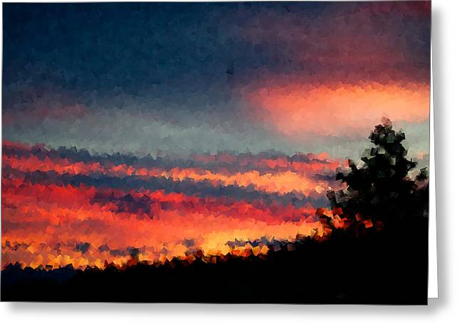 Sunset Posters Greeting Cards - Tempting Greeting Card by Kevin Bone