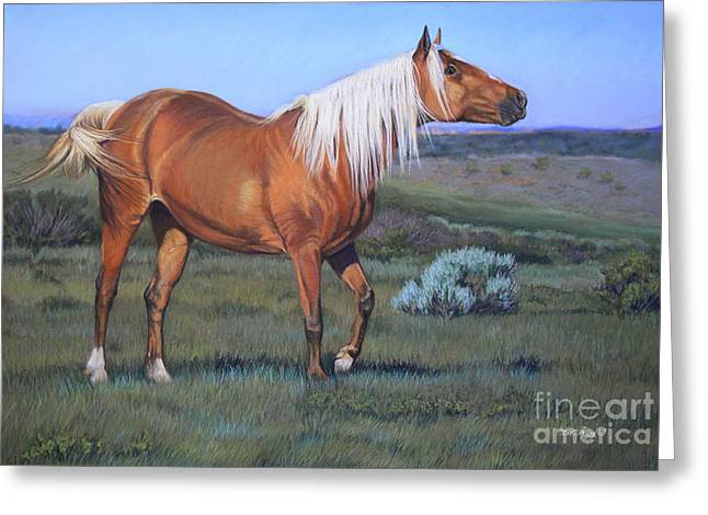 Wild Horse Pastels Greeting Cards - Temptress 3 Greeting Card by Deb LaFogg-Docherty