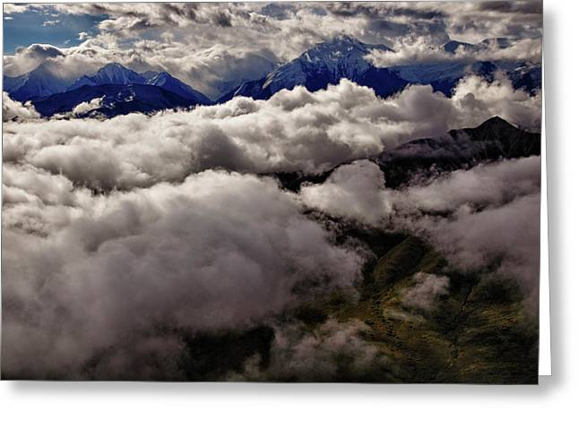 Denali Greeting Cards - Ten Thousand Feet Over Denali Greeting Card by Rick Berk