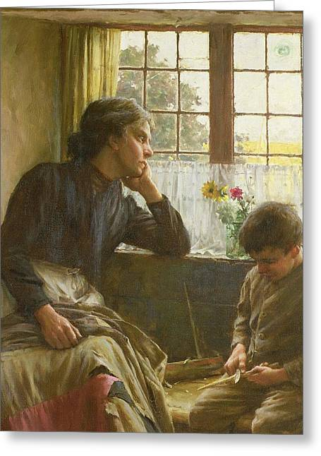 Tender Greeting Cards - Tender Grace of a Day that is Dead Greeting Card by Walter Langley