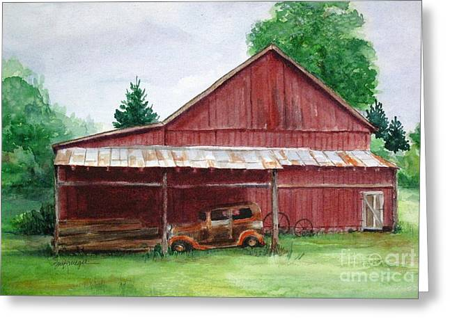 Tennessee Farm Greeting Cards - Tennessee Barn Greeting Card by Suzanne Krueger