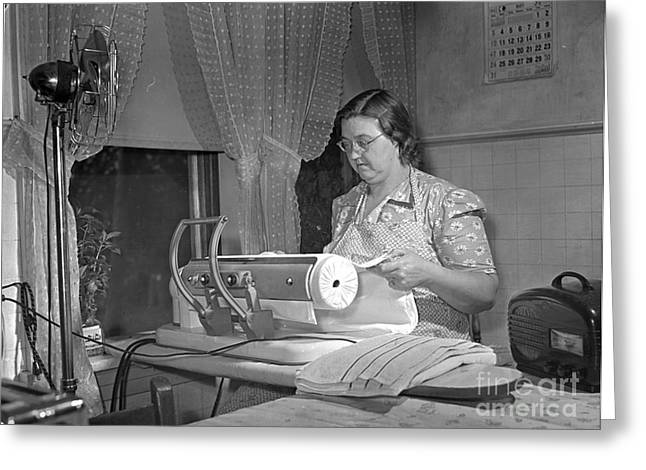 Iron Greeting Cards - Tennessee: Farm Wife, 1942 Greeting Card by Granger