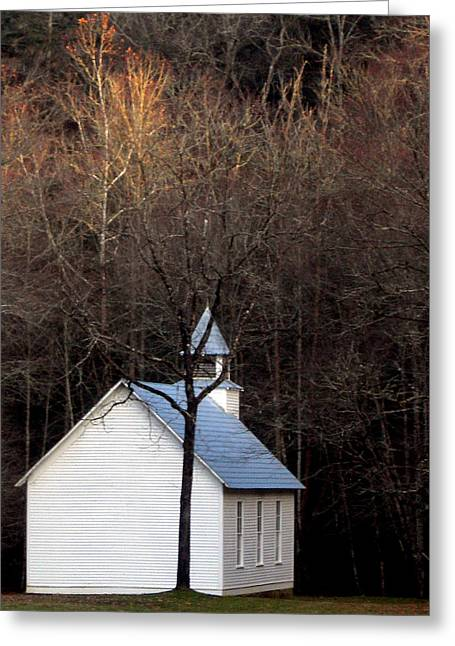 Tenn Greeting Cards - Tennessee Mountain Church Greeting Card by Skip Willits