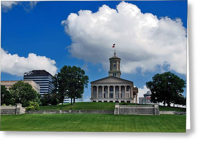 Tennessee Landmark Greeting Cards - Tennessee State Capitol Nashville Greeting Card by Susanne Van Hulst