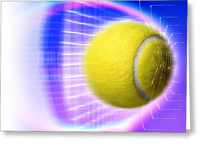 Sporting Equipment Greeting Cards - Tennis Ball Greeting Card by Coneyl Jay