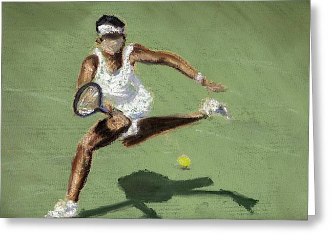 Tennis Pastels Greeting Cards - Tennis In The Sun Greeting Card by Paul Mitchell