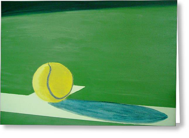 Recently Sold -  - French Open Paintings Greeting Cards - Tennis Reflections Greeting Card by Ken Pursley