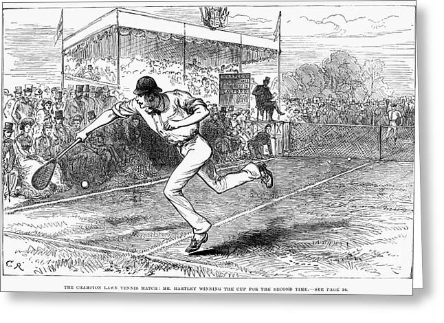 TENNIS: WIMBLEDON, 1880 Greeting Card by Granger