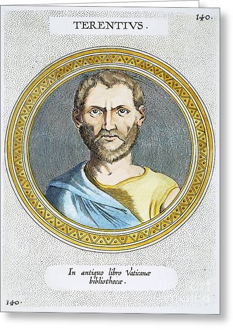 1st Century B.c. Greeting Cards - Terence (186?-159 B.c.) Greeting Card by Granger