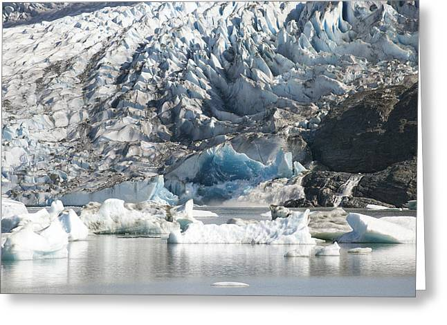 Juneau Park Greeting Cards - Terminal Moraine And Glacial Lake Greeting Card by Matthias Breiter