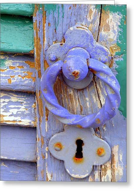 Terrace Door Greeting Card by Lainie Wrightson