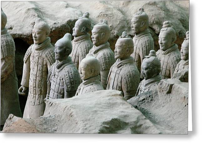 Lintong Greeting Cards - Terracotta Army Xian Greeting Card by Jessica Estrada